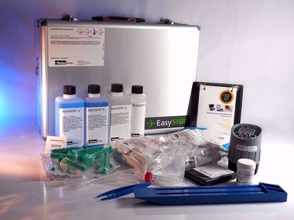 The staple wet-chemistry kit for Marine and Industrial customers wanting to cost-effectively test for water in oil, BN, salt, insolubles and viscosity.
