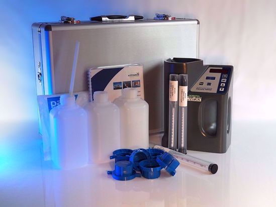 A portable electronic device using hydrometers to provide laboratory-grade density measurements.