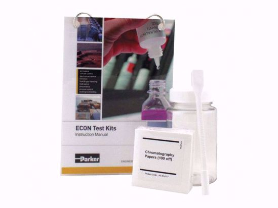 Simple and economical kit for testing insolubles, providing supplies for 100 tests.